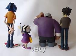 Kidrobot Gorillaz Red Edition Action Figure set 2D, Noodle, Russell, Murdoc