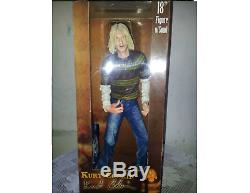 Kurt Cobain 18-inch Neca Figure With Blue Fender With Music And Orig Box