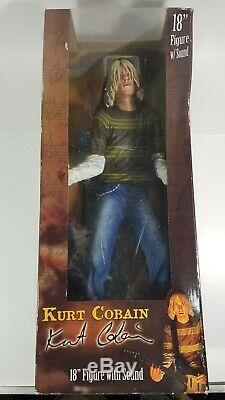 Kurt Cobain 18-inch Neca Figure With Blue Fender With Music Sealed In Orig Box