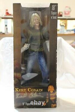 Kurt Cobain Nirvana 18 Figure with Sound & Fender Mustang Guitar NECA Reel Toys
