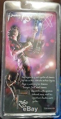 Led Zeppelin Jimmy Page w Guitar 7 Inch Action Figure Toy New In Box