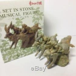 Limited Edition Music Box Set in Stone San Ashitaka Mononoke Figure Ghibli Japan