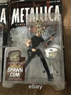METALLICA Harvesters of Sorrow McFarlane Toys Super Stage Figures Complete Set