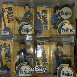 McFarlane 2004 The Beatles Complete Set 1965 Cartoon Figures JOHN/PAUL/GEORGE/RI