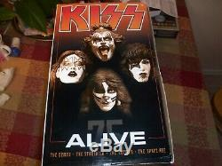 McFarlane Toys KISS ALIVE Deluxe Boxed Set Action Figures RARE Awesome Set