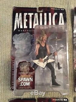 McFarlane Toys Metallica Harvester of Sorrow Figures Lot (All 4)