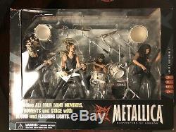 McFarlane Toys Metallica Harvesters of Sorrow Figures & Stage Box Set New! NIB