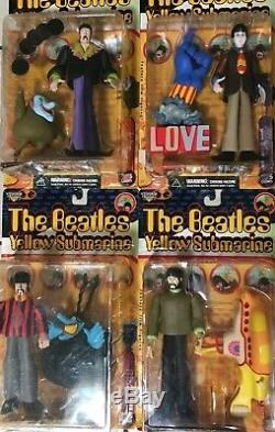 McFarlane Toys THE BEATLES YELLOW SUBMARINE Feature Film Figures Full Set of 4