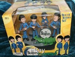 Mcfarlane Cartoon Beatles 4 Figure Deluxe Box Set John Paul George Ringo