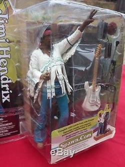 Mcfarlane Jimi Hendrix Woodstock Figure Still Sealed RARE