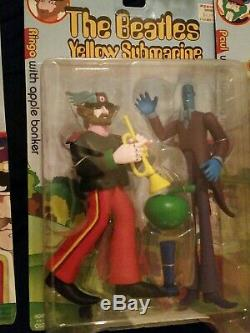Mcfarlane toys the beatles yellow submarine lot of 8 action figures