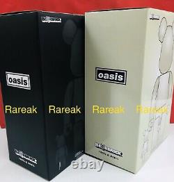 Medicom 400% + 100% Bearbrick Oasis White Chrome & Black Rubber Be@rbrick set 2p