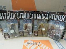 Metallica Harvester Of Sorrow McFarlane 2001 Action Figures Set of 4