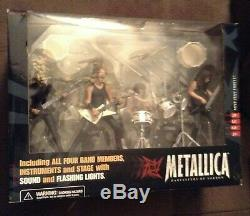 Metallica Super Stage Figures By McFarlane Toys New Old stock sealed in box 2001