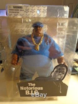 Mezco Toys The Notorious B. I. G Biggie Smalls Blue Suit Action Figure 9 Tall NEW