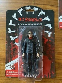 My Chemical Romance Action Figures FULL SET Rare Emo Goth Punk 2005 Black Parade