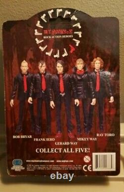 My Chemical Romance Gerard Way Action Figure w Coffin SEALED SEG TOYS VERY RARE