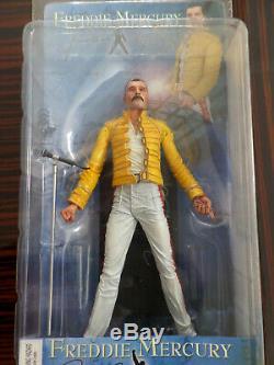 NECA 7 FREDDIE MERCURY Action Figures Set 2006 RARE QUEEN SEALED IN BOX