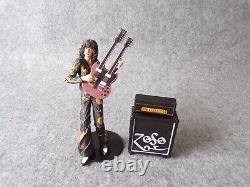 NECA Led Zeppelin Jimmy Page Action Figure, Rock Music Memorabilia Model