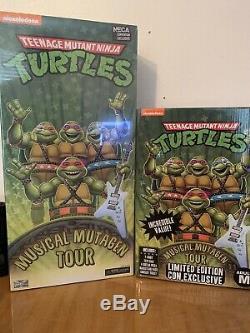 NECA SDCC Teenage Mutant Ninja Turtles Musical Mutagen Tour Bundle 4-Pack Medium