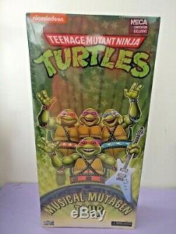 NECA TMNT Ninja Turtles SDCC 2020 Musical Mutagen Tour 4 Figure Set NEW IN HAND