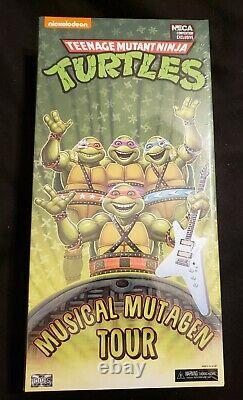 NECA TMNT Ninja Turtles SDCC 2020 Musical Mutagen Tour 4 Figure Set NEW SEALED