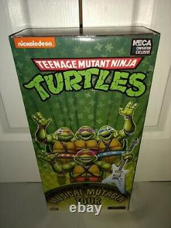 NECA TMNT SDCC Target 2020 Musical Mutagen Tour Turtles 4-Pack NEW MISP