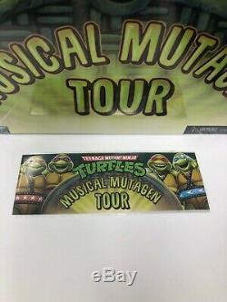 NECA Teenage Mutant Ninja Turtles Mutagen Musical Tour 4-pack + Tour Merch XXL