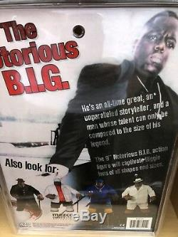 NEW Mezco The Notorious B. I. G. 9 Action Figure Biggie Smalls in White Suit