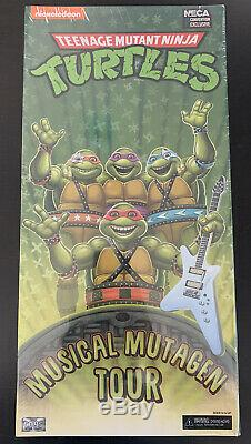 NIB SDCC 2020 Neca Teenage Mutant Ninja Turtles Musical Mutagen Tour 4 Pack