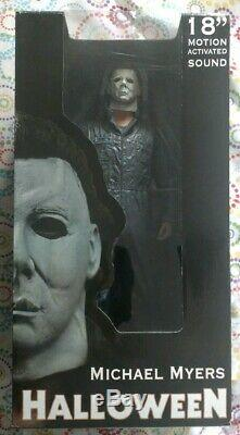 Neca 18 Inch Michael Myers Motion Activated Sound Plays Halloween theme music