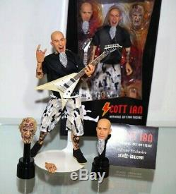 Neca ANTHRAX SCOTT IAN 8 Action Figure Official Licensed with Autograph on Box