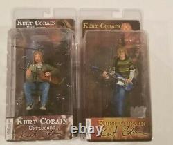 Neca Nirvana Kurt Cobain Unplugged 2 Figure Set Smells Like Teen Spirit Moc Misp
