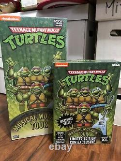 Neca Teenage Mutant Ninja Turtles Musical Mutagen Tour XL Bundle Sealed