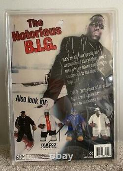 New in Box Mezco Notorious B. I. G. Biggie Smalls Blue Outfit Action Figure (Rare)