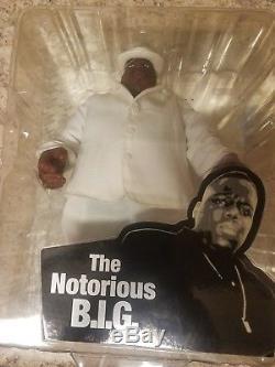 Notorious B. I. G. Mezco Toys Big Action Figure Biggie Smalls White Suit 2006 New
