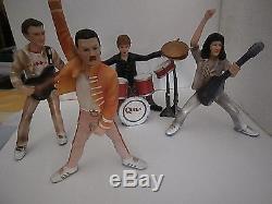 QUEEN Figurines/ Freddy Mercury/Brian May/John Deacon/ Roger Taylor