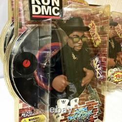 RUN DMC Jam Master figure 3 complete set Mezco 2002 Japan New ship withtrucking#