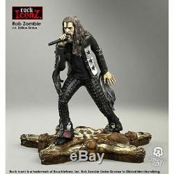 Rob Zombie Rock Iconz Statue-KNUZOMBIE100