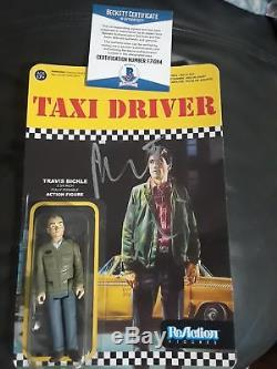 Robert Deniro Signed Beckett Authenticated Re-action Figure/toy Taxi Driver Nyc