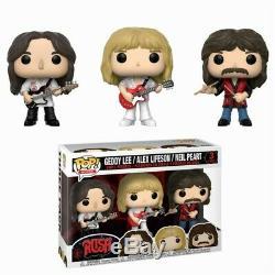 Rush Band Geddy Lee Alex Lifeson Neil Peart POP! Rocks 3-Pack Vinyl Figur Funko