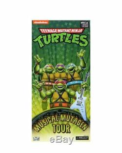 SDCC NECA Teenage Mutant Ninja Turtles Musical Mutagen Tour Bundle Tshirt M