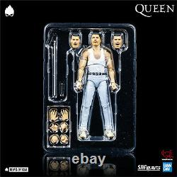 SH Figuarts Freddie Mercury Live Aid Ver 6 A/Figure IN STOCK NEW & OFFICIAL