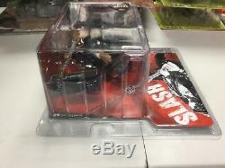 SLASH Guns N' Roses Figure Guitar Amp McFarlane MIB Clear Package
