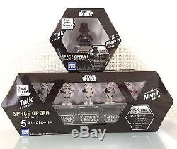 STAR WARS SPACE OPERA 5 STORMTROOPERS & Darth Vader SET Dancing Music Figures