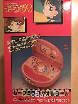 Sailor Moon R Moon Miracle Music Box Moonlight Densetsu Vintage Bandai Asia 1993