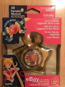 Sailor Moon Star Locket Music Box Moonlight Densetsu Vintage Bandai Europe 1992
