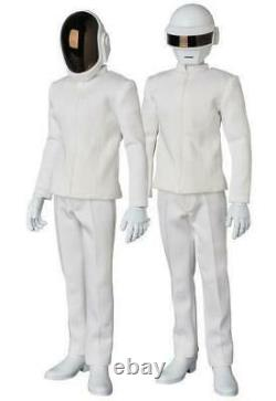 Set of 2 Medicom Toy Real Action Heroes RAH 16 Scale Daft Punk White Suit Ver