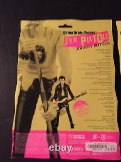 Sex Pistols Figures, Sid Vicious & Johnny Rotten, Set of 2, Medicom Toy, NIB