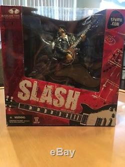 Slash GNR Guns-N-Roses Mcfarlane Deluxe Box Action Figure RARE